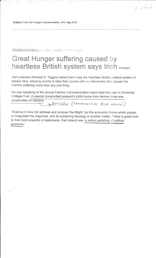 Great Hunger Suffering page 1